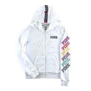 PINK Victoria's Secret white jacket